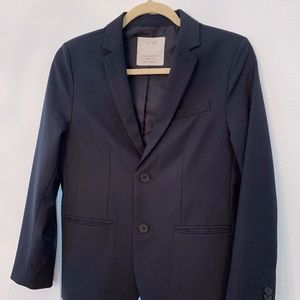 Boys 11 / 12 Zara Wool Navy Suit